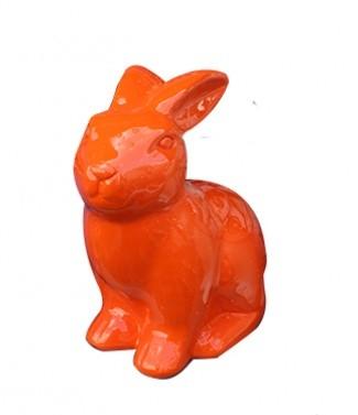 Lapin assis orange Orange L 24 x h 32
