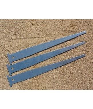 Pieux de fixation plat en acier galvanisé