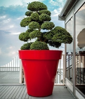 Pot rond grande taille Déco h 83.5 x Ø 80 200 litres (l)