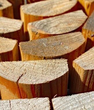 Rondins en bois pour jardin