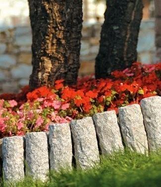 Bordure de jardin décorative minérale